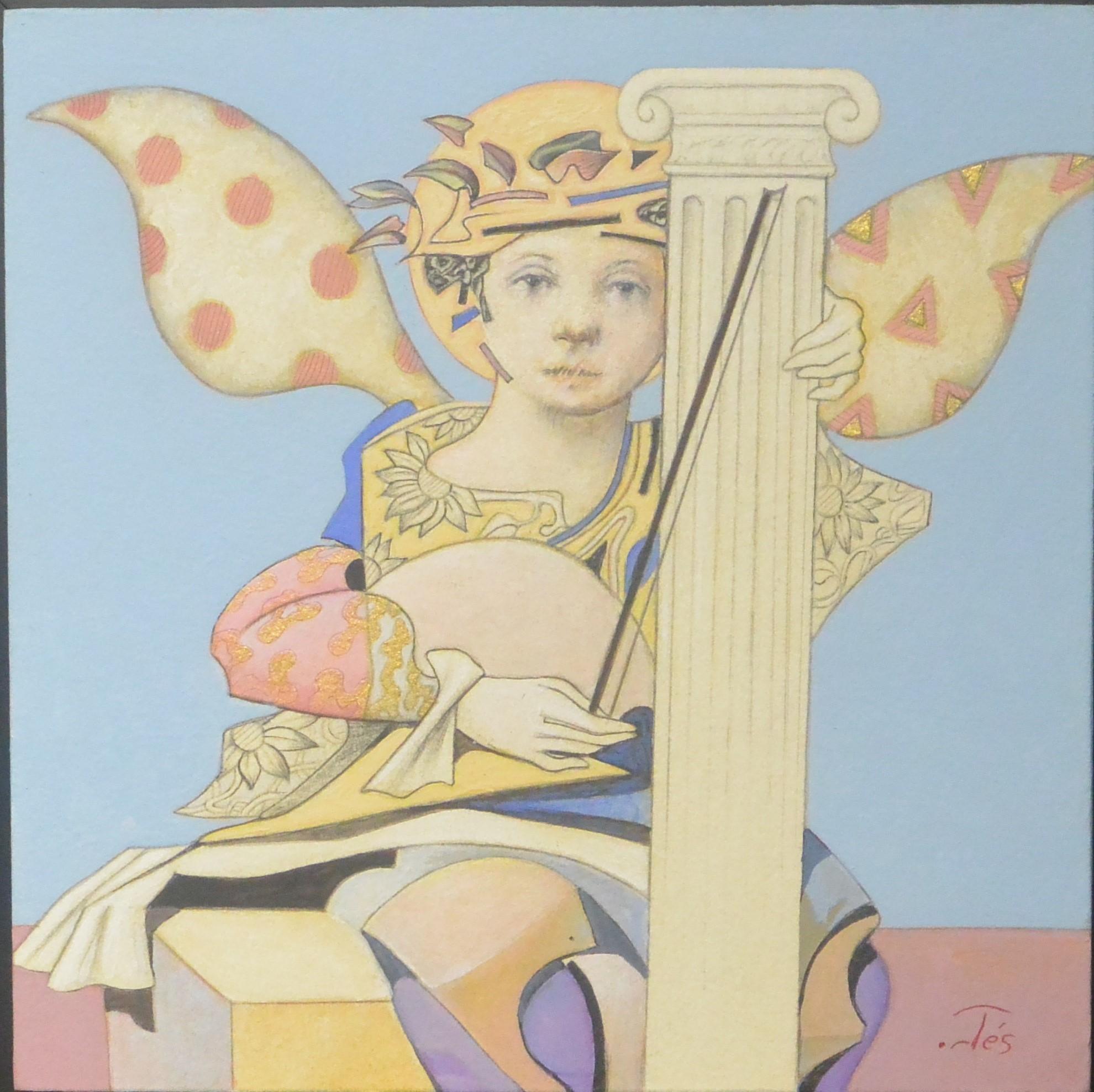 ortes-luis-valcarcel-melodia-para-un-angel-pintura-tecnica-mixta ...