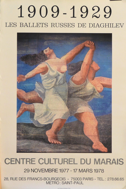 """Pablo Picasso – """"Les ballets russes de Diaghilev"""" cartel original ..."""