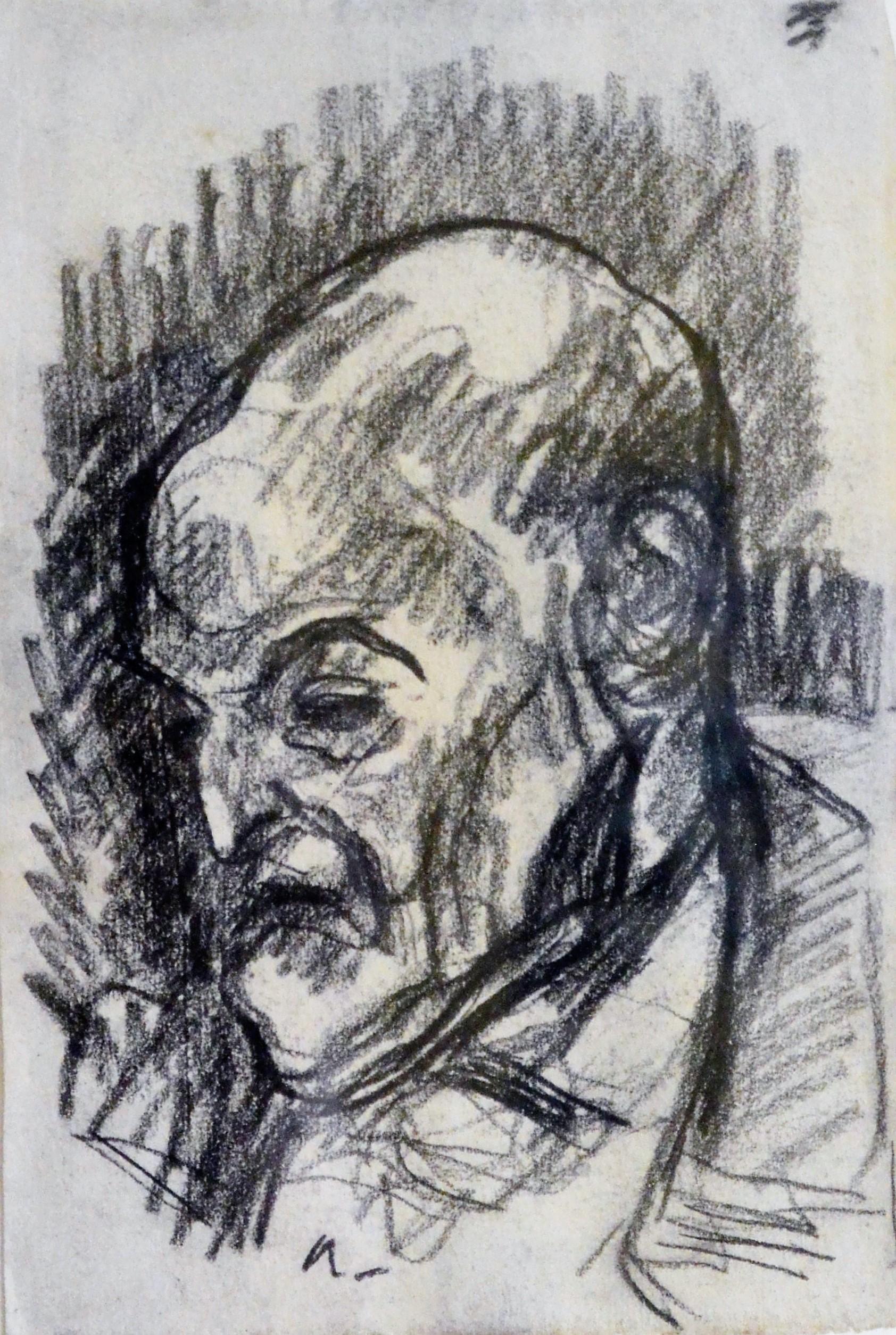 """Isidro Nonell – """"Retrato del doctor"""" dibujo carboncillo papel ..."""