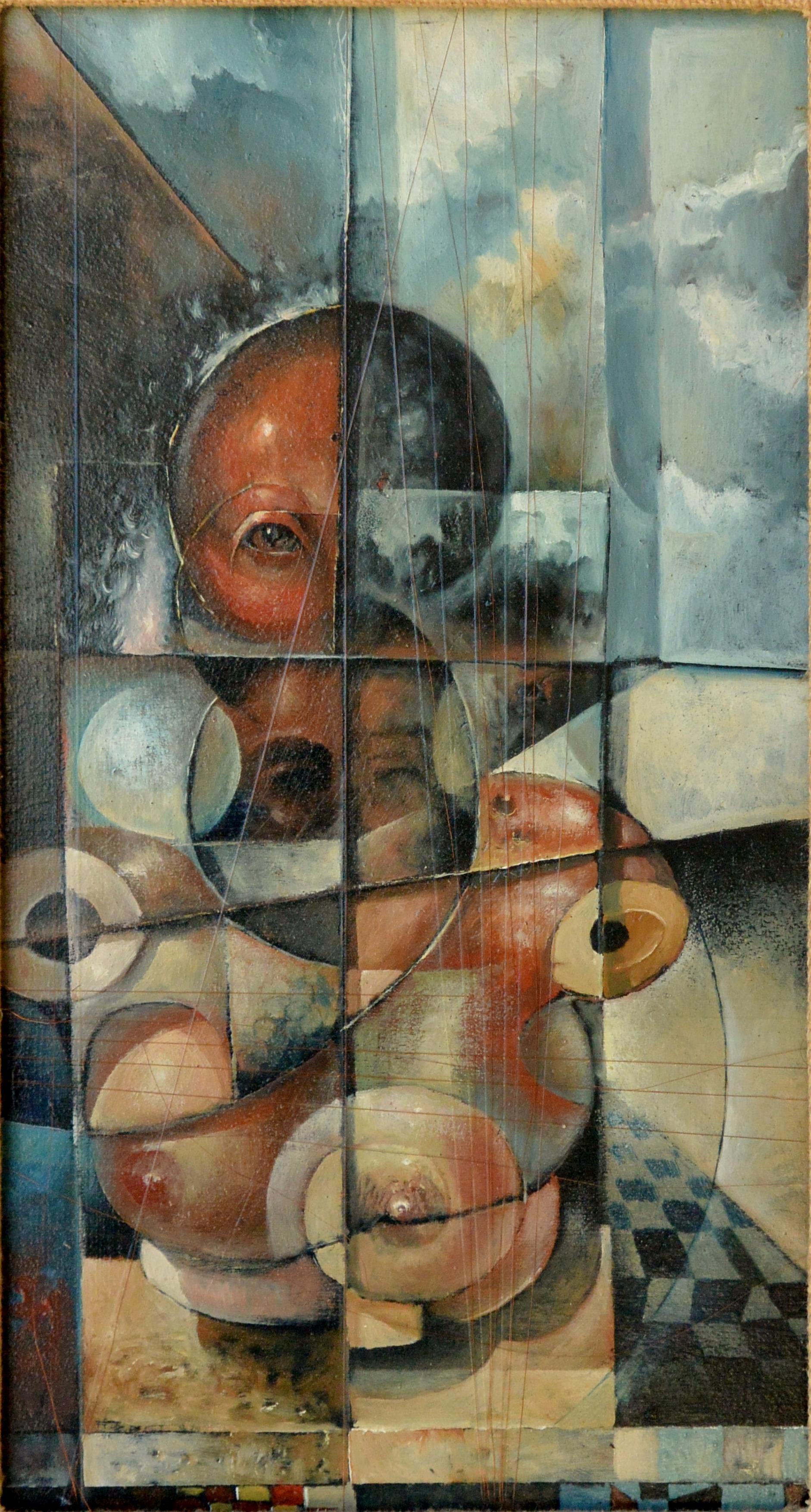 """Roberto L. Pizarro – """"Maniquies"""" pintura oleo tabla, enmarcado – El ..."""