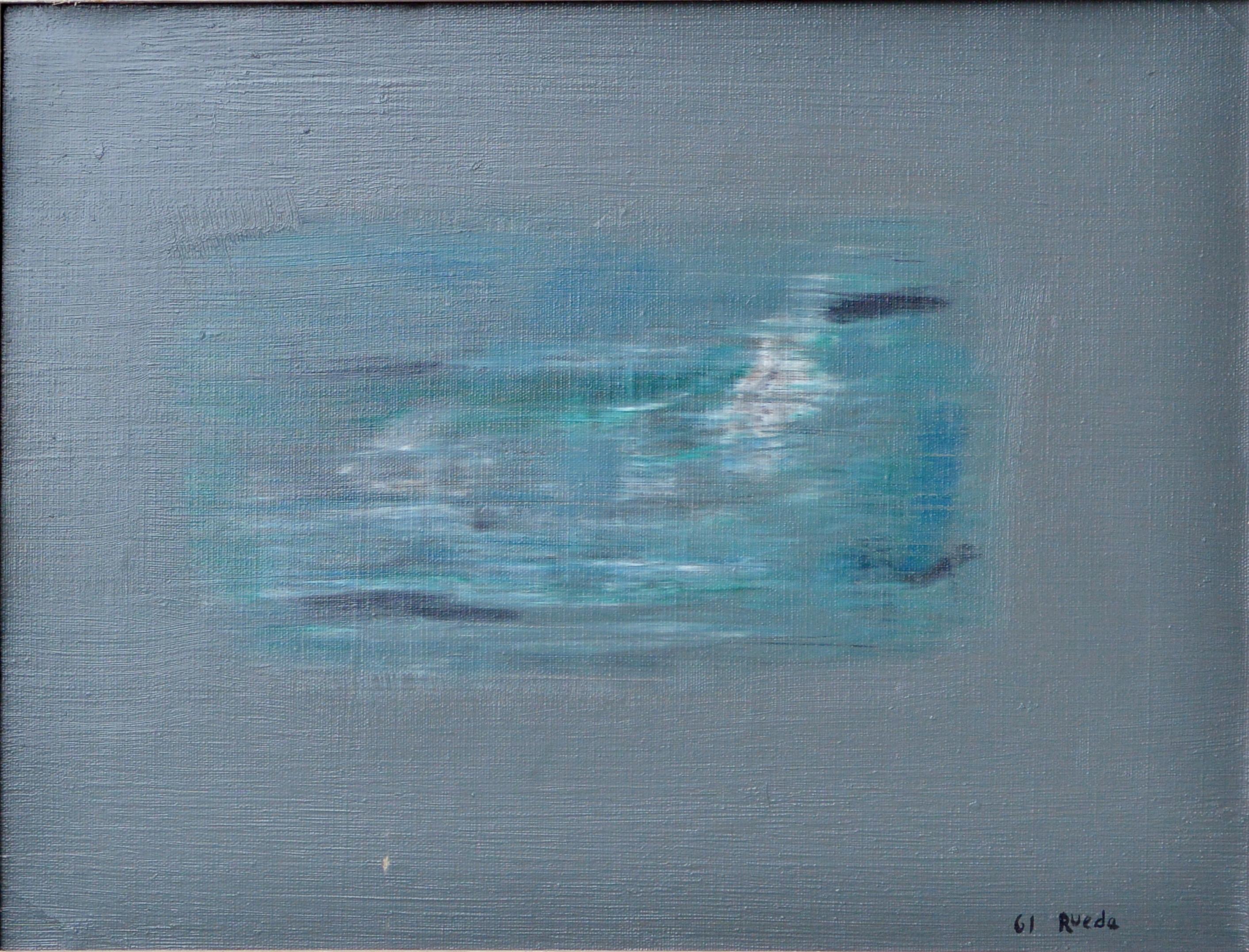 """Gerardo Rueda 1961 – """"Composición abstracta"""" oleo lienzo, enmarcado ..."""