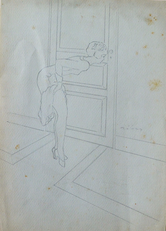 "Federico Rivas Montenegro – ""Curiosidad"" dibujo lápiz papel ..."