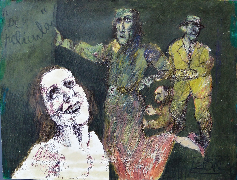 """Zohre Mirabassi – """"De película"""" pintura oleo en barra cartulina ..."""