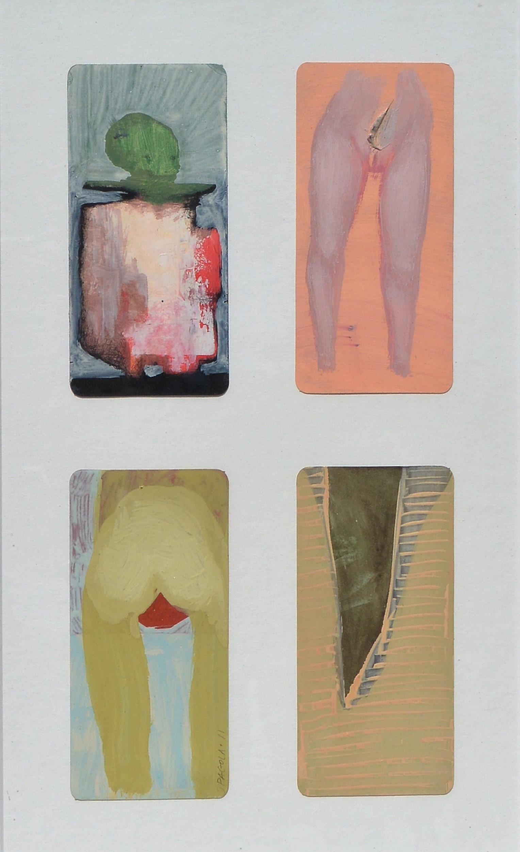 """Javier Pagola 2011 – """"Composición # 5"""" cuatro dibujos acrílico ..."""