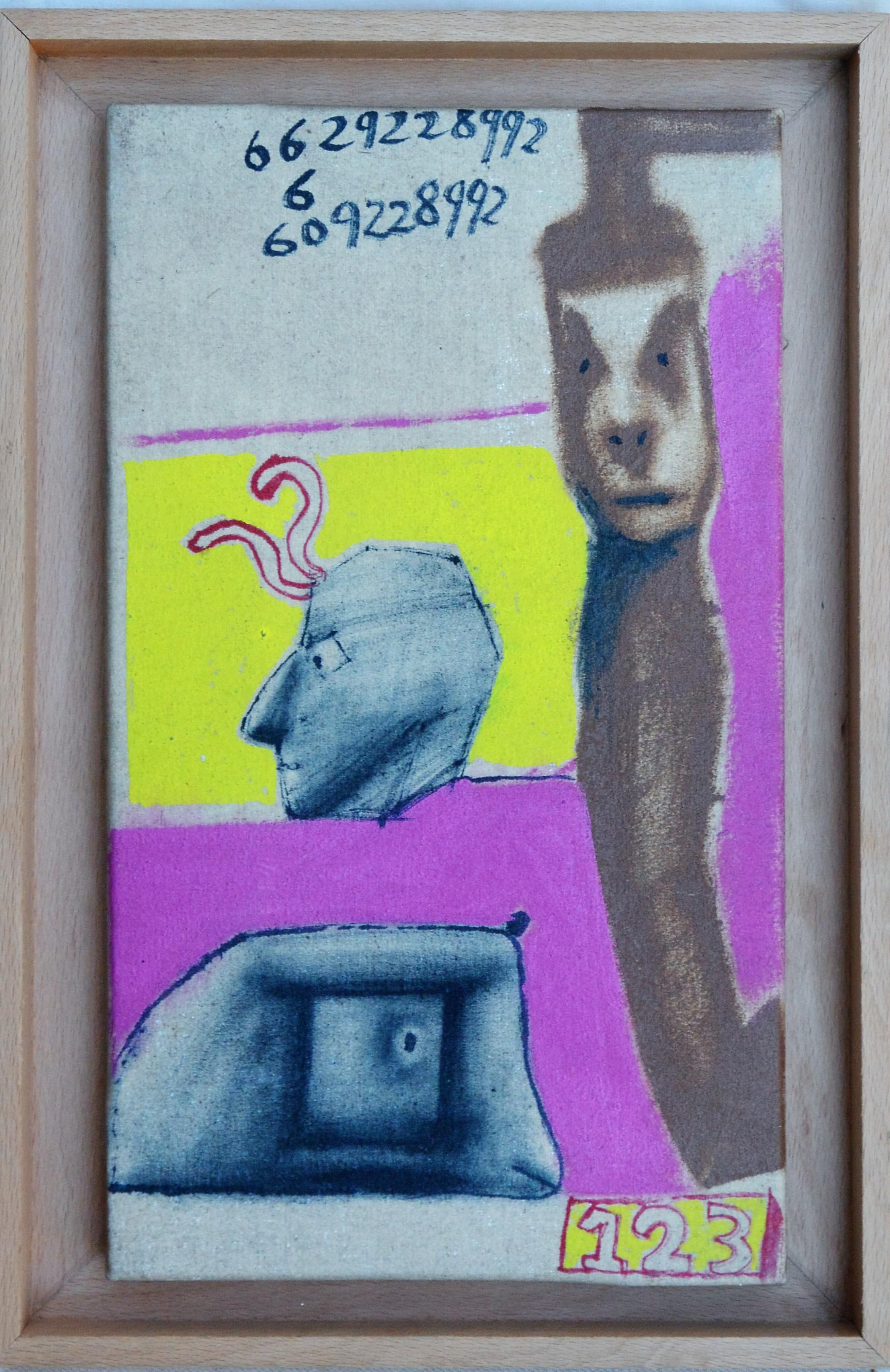 """Javier Pagola – """"1 2 3"""" pintura oleo lienzo, enmarcado – El Marco ..."""