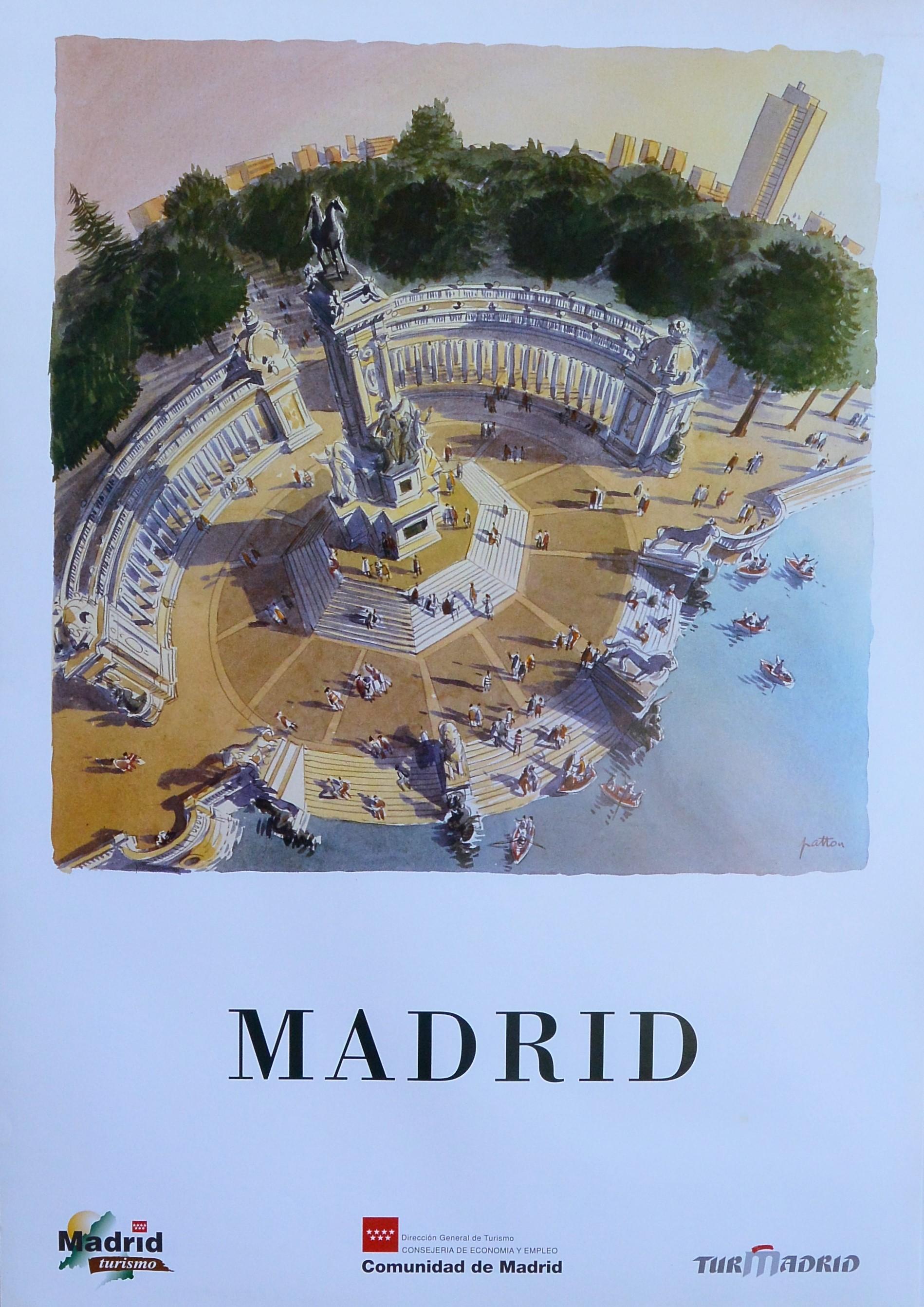 """Madrid – """"Monumento Alfonso XII, parque de el Retiro"""" cartel ..."""