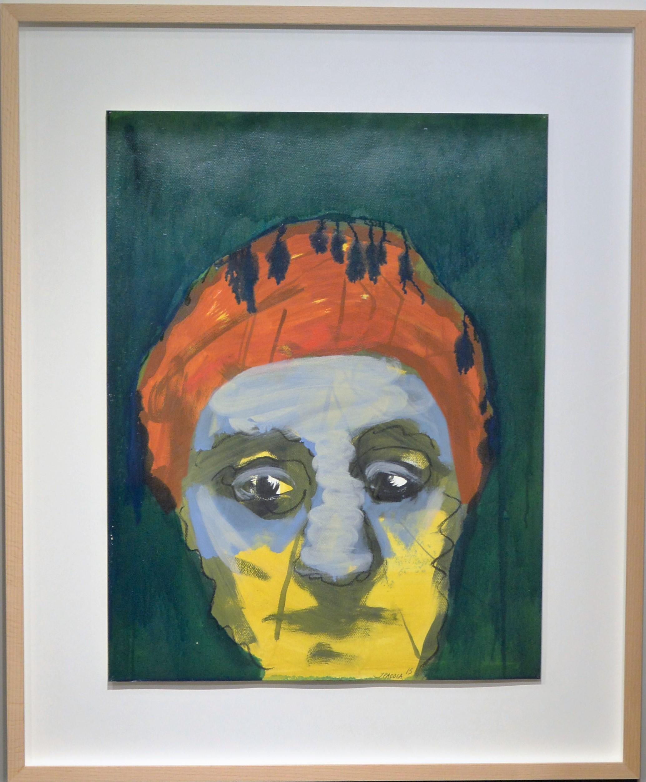 "Javier Pagola – ""Personaje melancólico"" pintura acrílico cartulina ..."