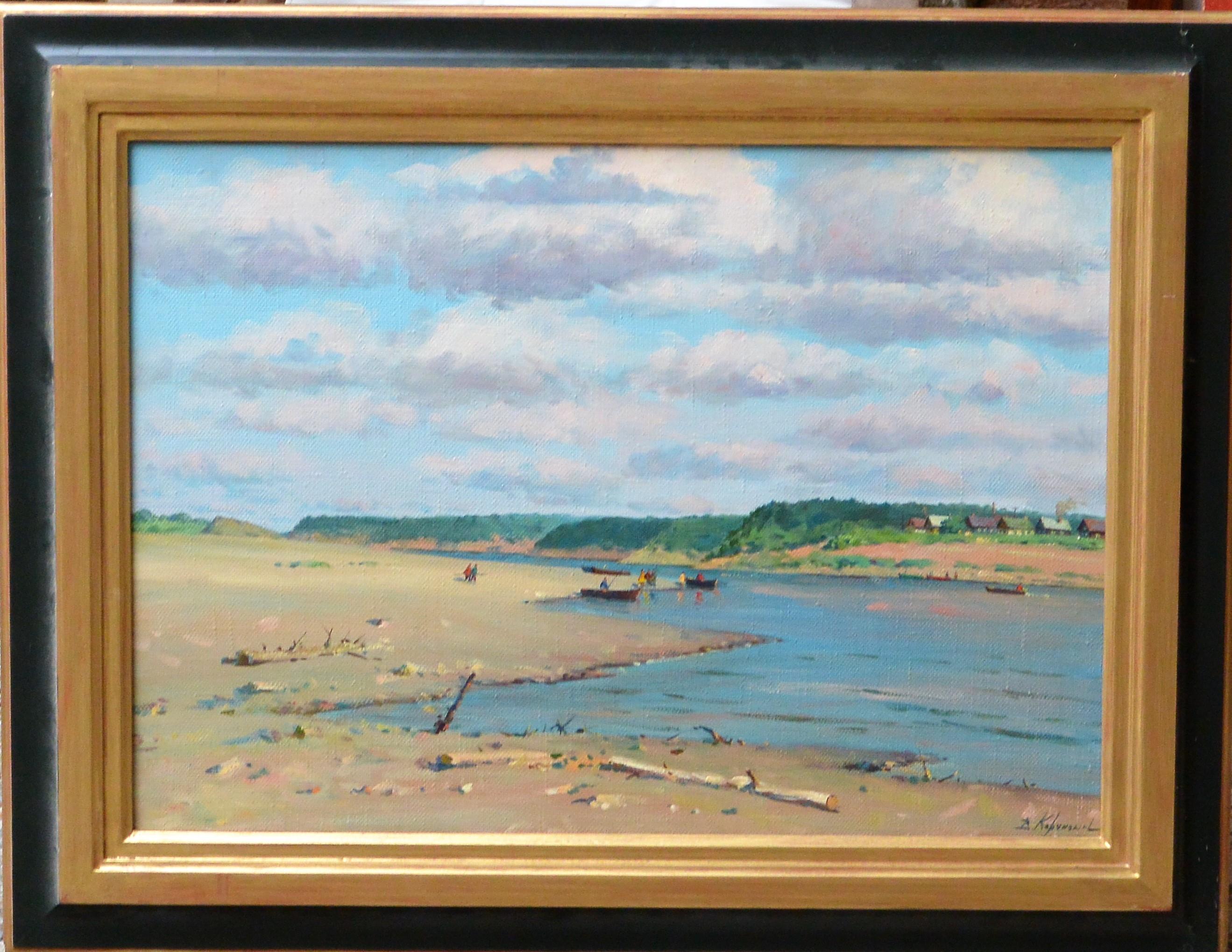 """Korchaguin – """"Rio Dunia del Norte"""" pintura oleo lienzo, enmarcado ..."""