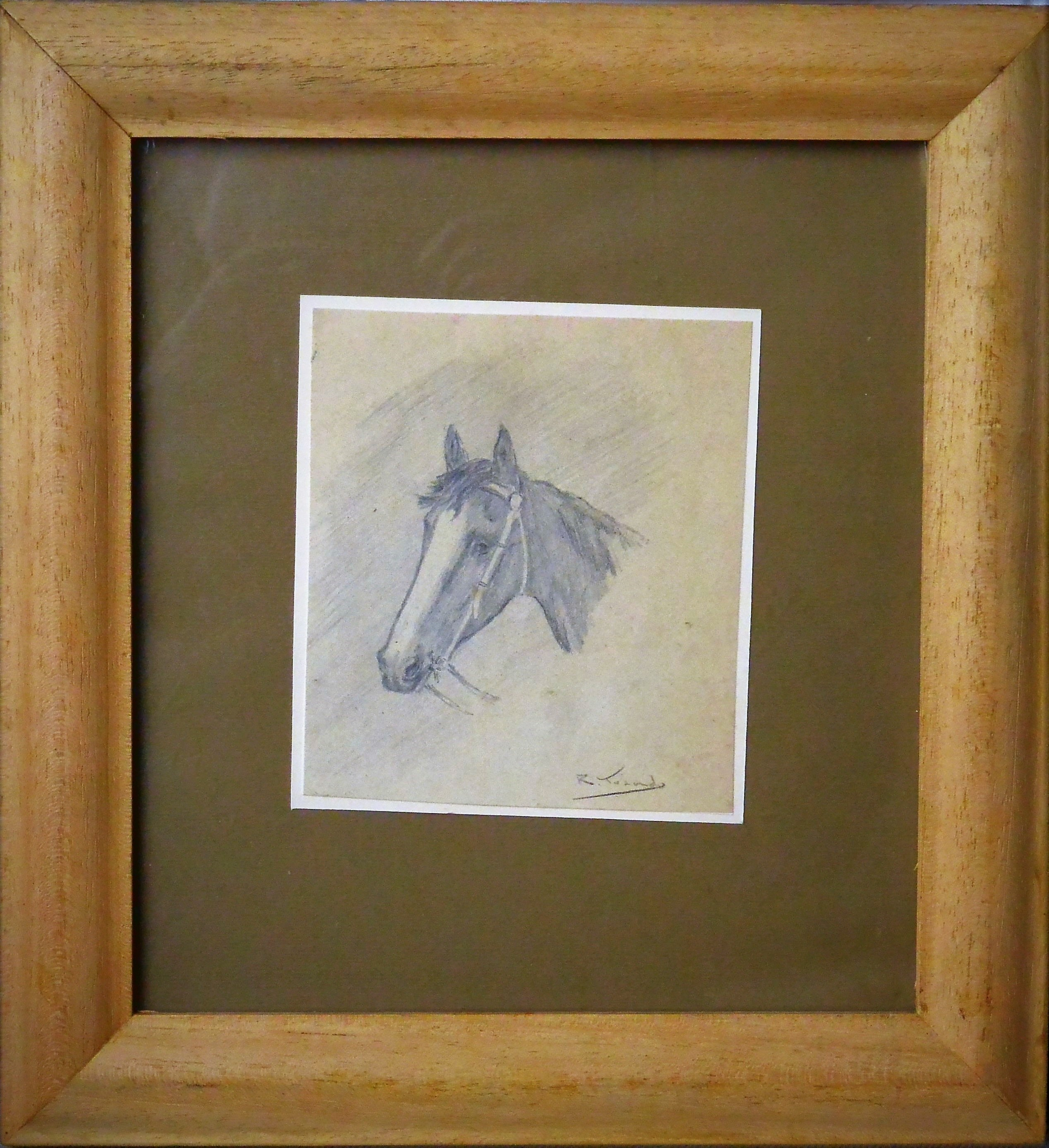 """Ramón Torrado – """"Cabeza de caballo III"""" dibujo lápiz papel ..."""