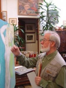 Alcorlo pintando