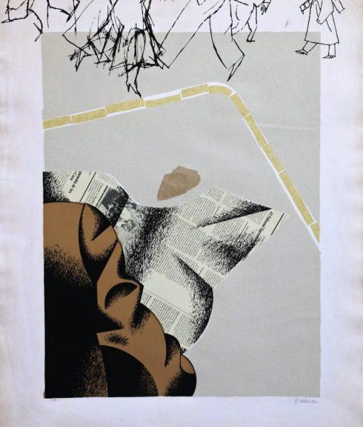 Equipo Crónica, La calle, serigrafía, 1978, edición 70 ejemplares, numerada p.a. y firmada a lápiz, 74,50×60 cms. (10)