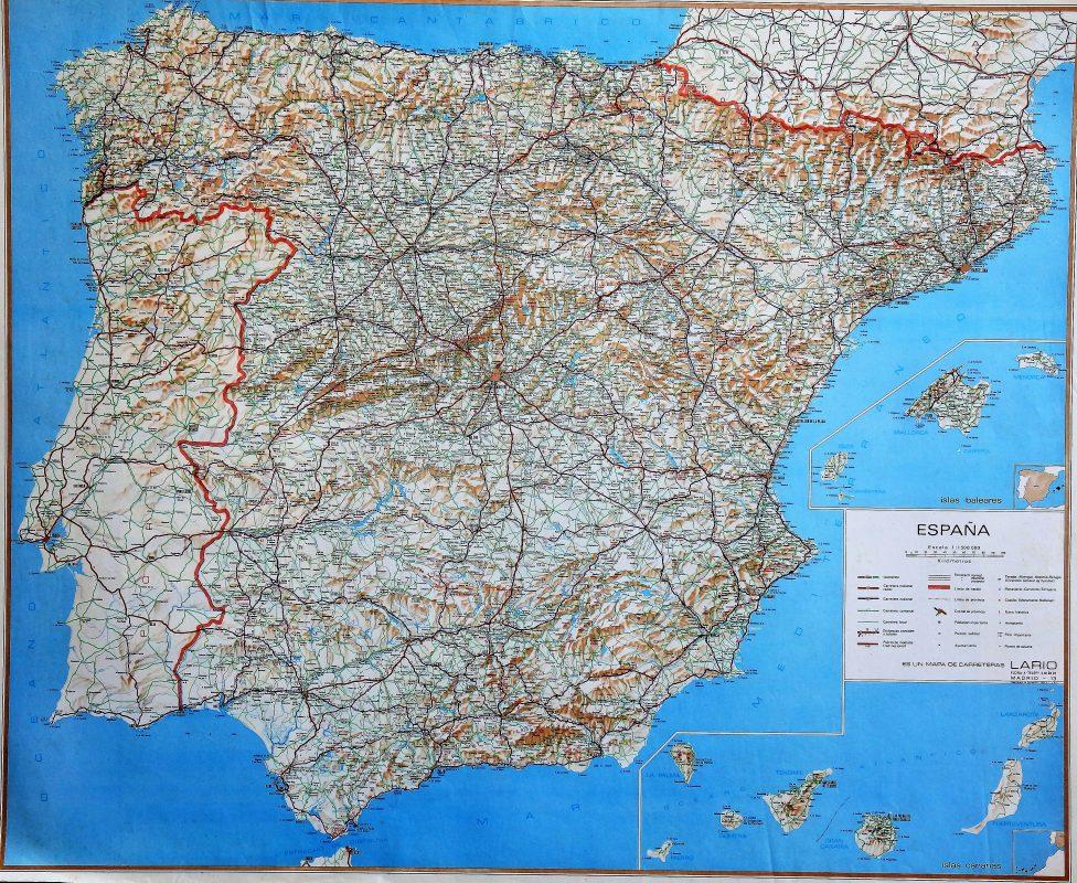 Mapa De España Antiguo.Espana Mapa Geografico Antiguo