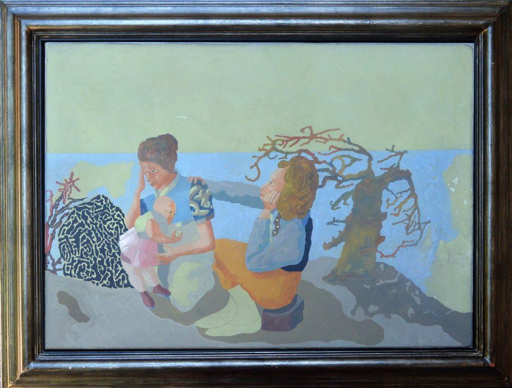 """Jorge Castillo 2002 – """"La familia"""" pintura acrílico lienzo ..."""