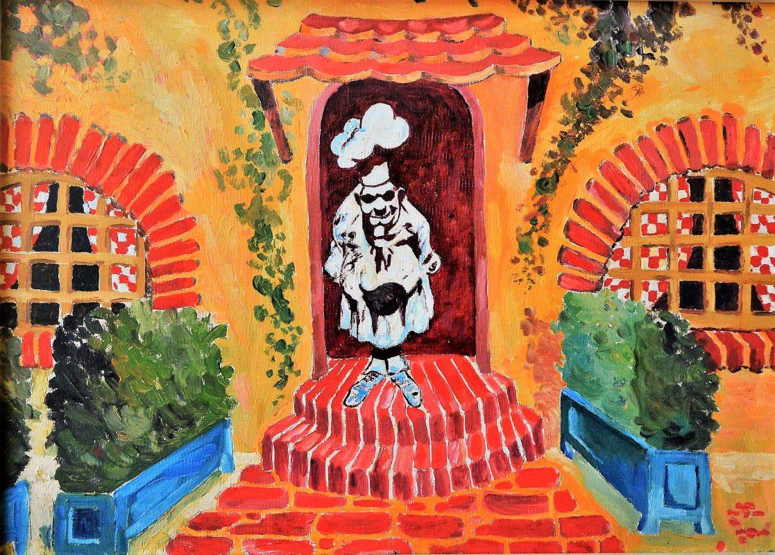 """Anónimo – """"Cocinero"""" pintura oleo lienzo, enmarcado – El Marco Verde ..."""