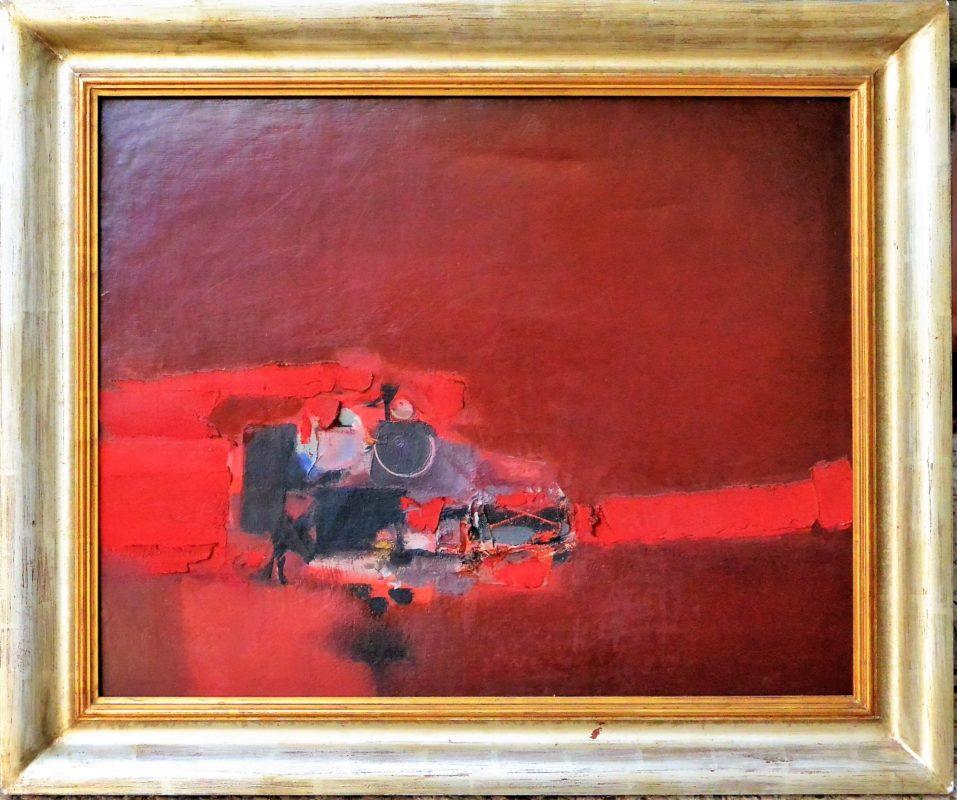 """Antonio Lorenzo 1965 – """"Composición # 424"""" oleo y materia sobre ..."""