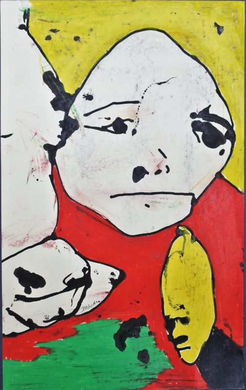 "Javier Pagola – ""Coloquio con mascotas"" pintura acrílico papel ..."