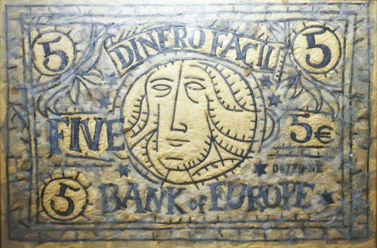 Bellver Fernando, Dinero fácil, técnica mixta, plomo y collage, enmarcado, obra 91×140 cms. y marco 105×151 cms. (13)