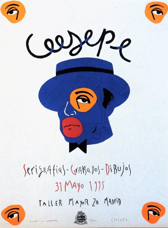 Bellver Fernando, Ceesepe, Serigrafias, grabados, dibujos, litografia , edición especial de 10 ejemplares, numerado firmado a lápiz por ambos artistas, 67×49 cms. (8)