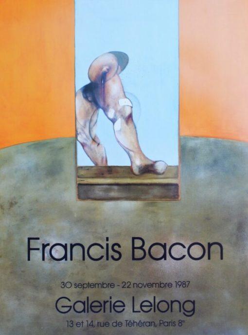Bacon Francis, Exposition 1987, cartel original exposición en la Galerie Lelong Paris en 1987, 67×50 cms. (6)