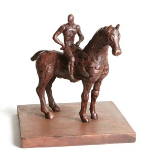 Suarez Reguera Fernando, Equestre II, escultura bronce y hierro, edición de 30 ejemplares, 22x30x20 cms. 1300 (12)