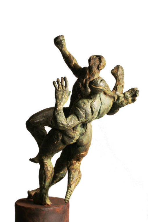 Suarez Reguera Fernando, Pelea II, escultura bronce y hierro, edición de 15 ejemplares, 145x17x14 cms. 2100 (1)